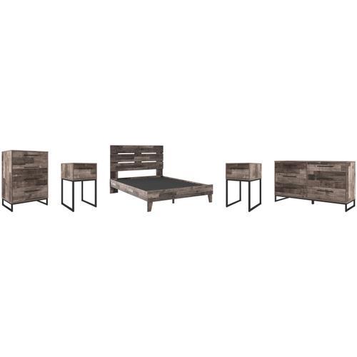 Gallery - Queen Platform Bed With Dresser, Chest and 2 Nightstands