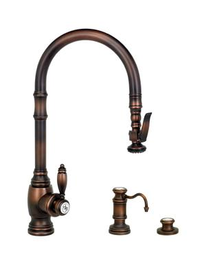 Traditional PLP Pulldown Faucet 3pc. Suite - 5600-3 - Waterstone Luxury Kitchen Faucets Product Image