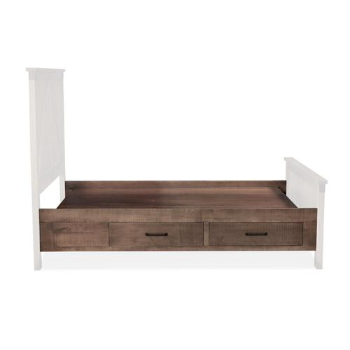 Montauk 2-Drawer Under-Bed Storage, Two Drawers Single Side Only, fits Twin
