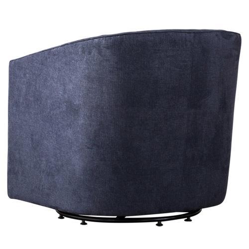 Walsh Fabric Swivel Accent Arm Chair, Denim Slate