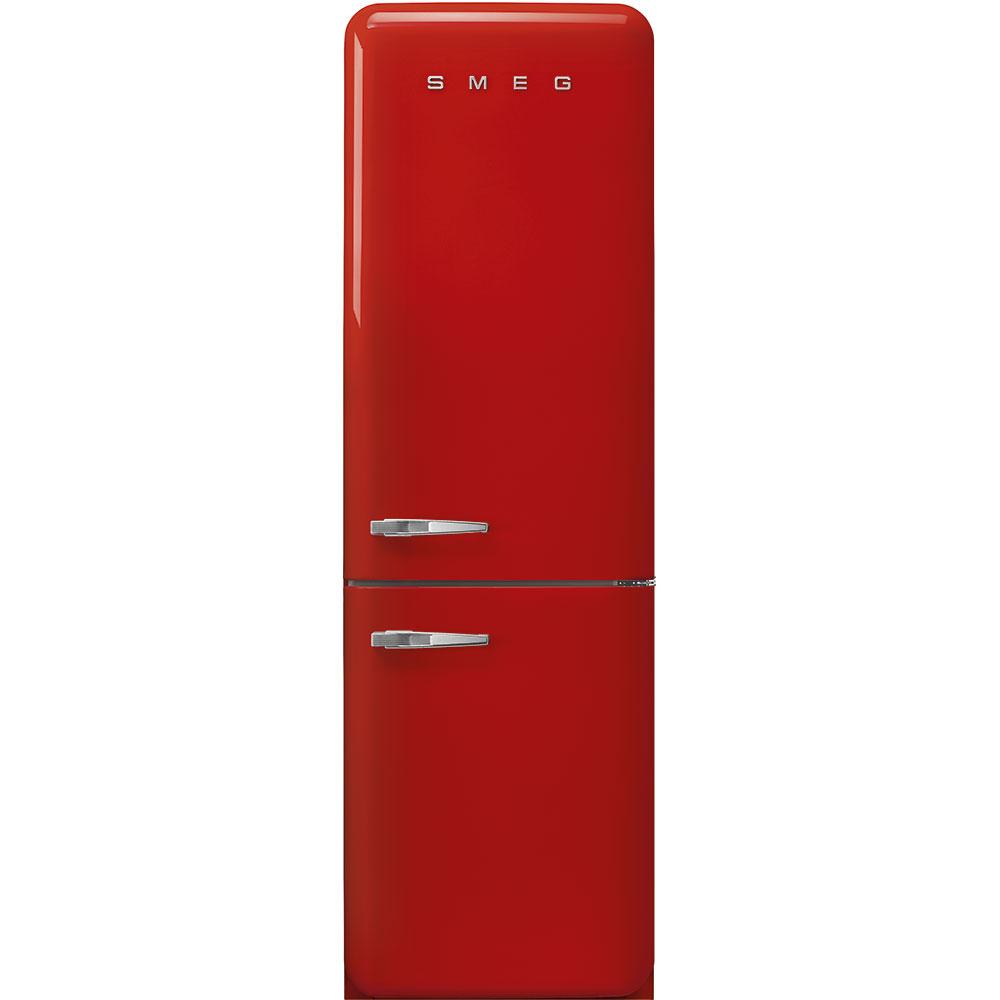"""Smeg'50s Style No Frost' Fridge-Freezer, Red, Right Hand Hinge, 60 Cm (Approx 24"""")"""
