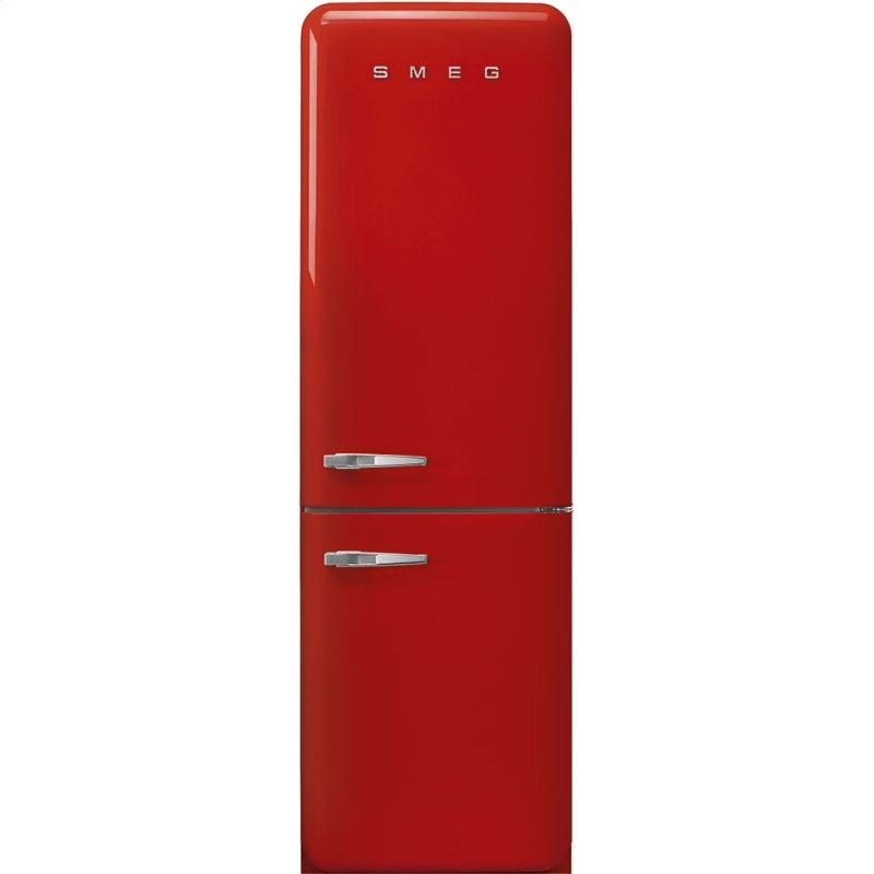 """'50s Style No Frost' Fridge-Freezer, Red, Right Hand Hinge, 60 cm (Approx 24"""")"""