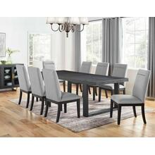Yves 9 Piece Dining Set (Table & 8 Grey Performance Side Chairs)