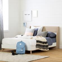 Yodi - Complete Bed, Soft Elm and White, Full