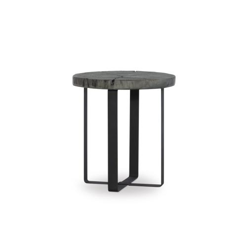 Metal Legs Side Table, Black and Charcoal Grey