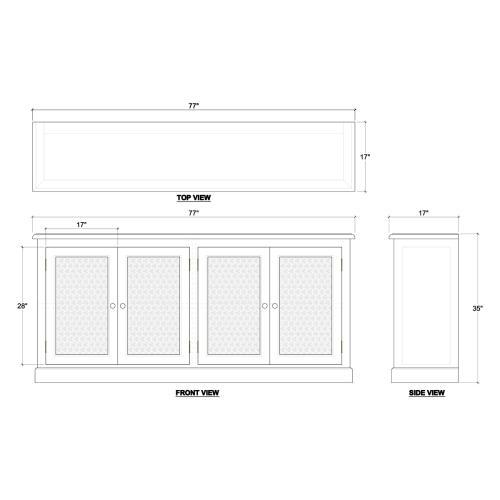 Wilmington 4 Door Sideboard