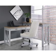 View Product - Osborne - Upholstered Desk Chair - Gray Skies Finish