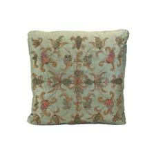 Moss Green Embroidered Pillow