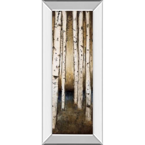 """Classy Art - """"Birch Landing III"""" By St Germain Mirror Framed Print Wall Art"""