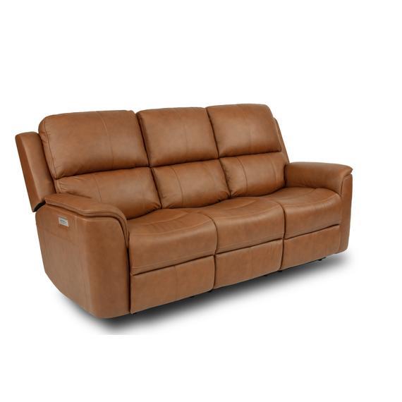 Flexsteel - Henry Power Reclining Sofa with Power Headrests and Lumbar