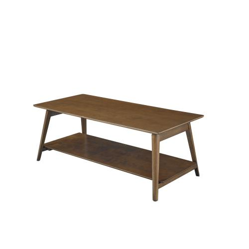 One Open Shelf Coffee Table, Espresso