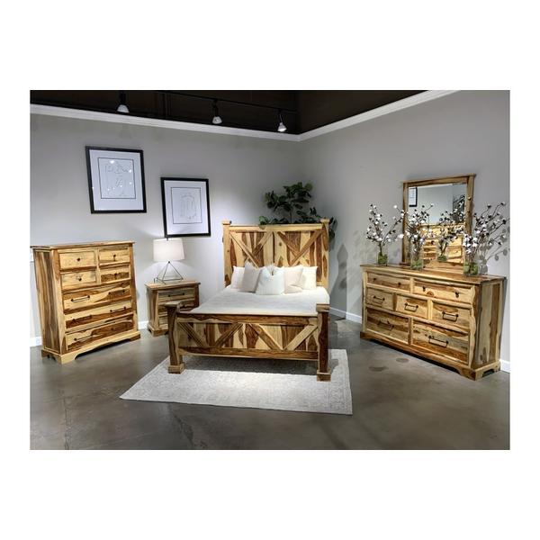 See Details - COMING SOON, PRE-ORDER NOW! Crossroads Natural Bedroom Set, VAC-C001