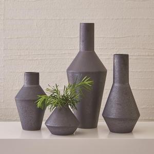 Shaker Vase-Graphite-Squat