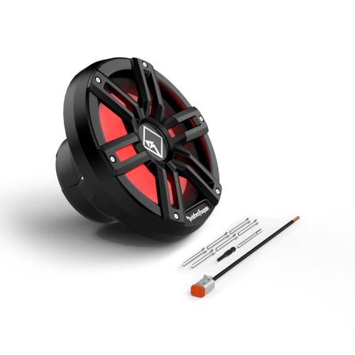 "Rockford Fosgate - M2 10"" DVC 2 Color Optix™ Infinite Baffle Marine Subwoofer - Black"