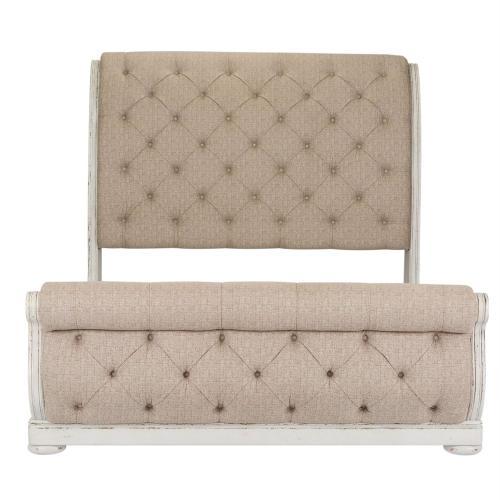 Queen Uph Sleigh Bed