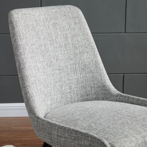 Mia Side Chair, set of 2 in Light Grey/Walnut Legs