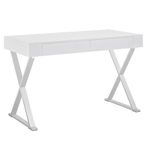 Sector Office Desk in White