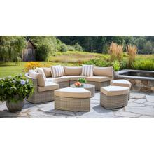 View Product - Gray Santorini Round Outdoor Wicker Patio Daybed with Cushions