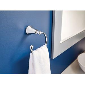 Wynford chrome towel ring