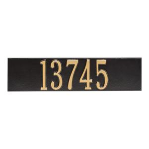 Colonial Wall Mailbox Plaque - Black/Gold Product Image