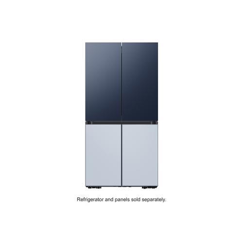 Samsung - BESPOKE 4-Door Flex™ Refrigerator Panel in Sky Blue Glass (matte) - Bottom Panel
