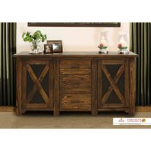 See Details - 67 Console w/2 Metal panel doors, 3 drawers