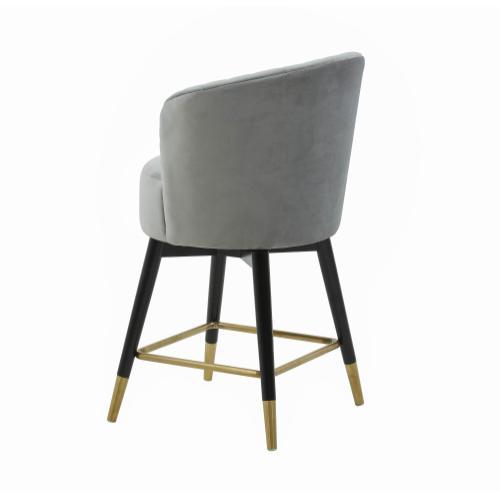 Liana Grey Velvet Swivel Stool by Inspire Me! Home Decor