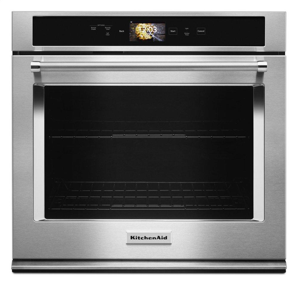 """KitchenAidSmart Oven+ 30"""" Single Oven With Powered Attachments - Stainless Steel"""