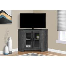 "TV STAND - 42""L / BLACK RECLAIMED WOOD-LOOK CORNER"