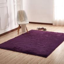 Luxury Soft Faux Fur Sheepskin Area Rug by Rug Factory Plus - 5' x 7' / Dark Purple
