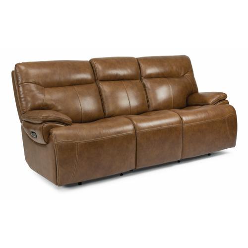 Flexsteel - Saddle Power Reclining Sofa with Power Headrests