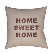 "HOME SWEET HOME PLAID-016 20"" x 20"""