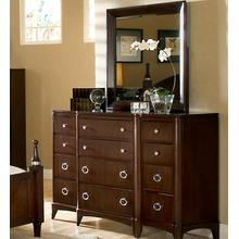 Triple Dresser and Landscape Mirror