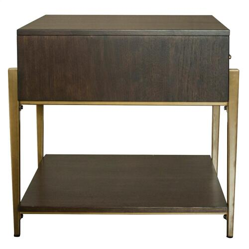Dekker - Rectangular Side Table - Roasted Walnut Finish