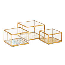 Marigold Glass Boxes - Set of 3