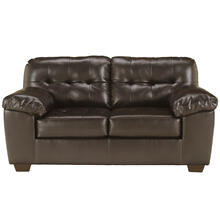 Signature Design by Ashley Alliston Loveseat in Chocolate Faux Leather [FSD-2399LS-CHO-GG]