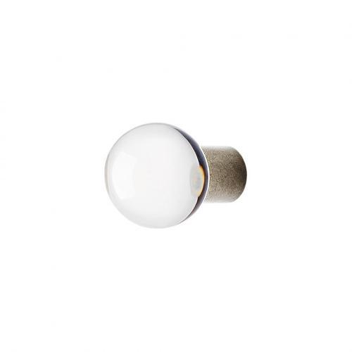Rocky Mountain Hardware - Round Crystal Knob - CK155 White Bronze Light