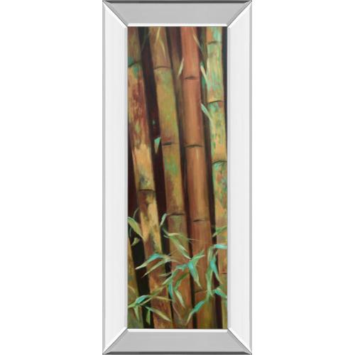 """Classy Art - """"Bamboo Finale I"""" By Suzanne Wilkins Mirror Framed Print Wall Art"""