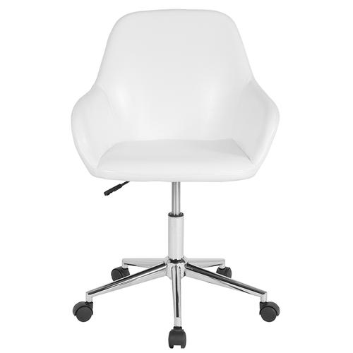 Gallery - Cortana Home and Office Mid-Back Chair in White LeatherSoft