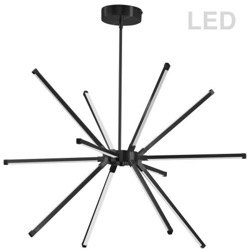 60w Chandelier Mb W/ Wh Acrylic Diffuser
