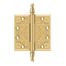 "4-1/2"" x 4-1/2"" Square Hinges - PVD Polished Brass"