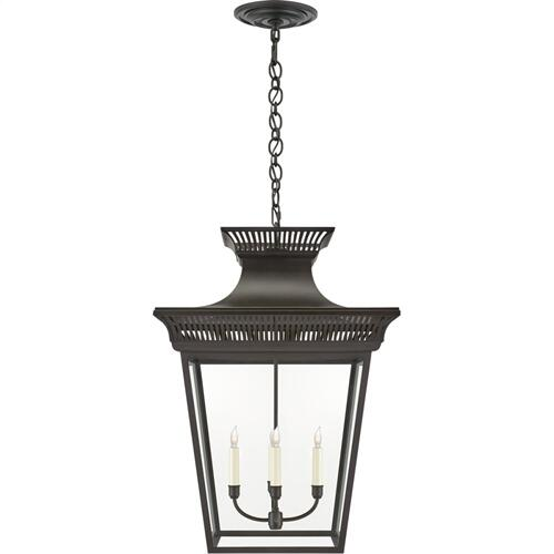 Visual Comfort CHC5052BLK-CG E. F. Chapman Elsinore 4 Light 22 inch Black Hanging Lantern Ceiling Light in Matte Black, Extra Large