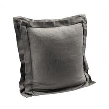 Double Flanged Washed Linen Pillow, 5 Colors, 20x20 - Slate