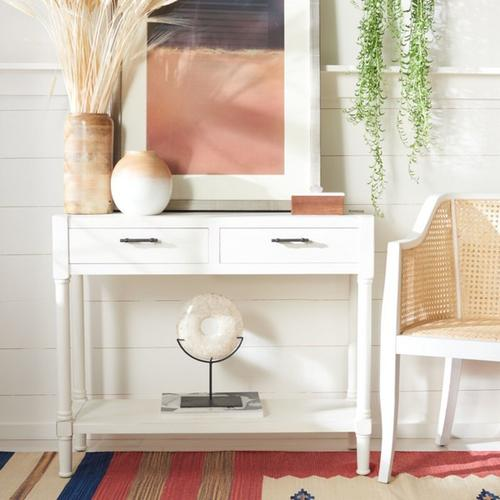 Safavieh - Filbert 2 Drawer Console Table - Distressed White