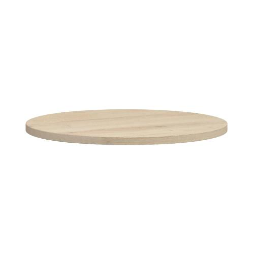White Oiled Oak Round Dining Table 1300