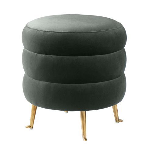 Tov Furniture - Ladder Grey Velvet Ottoman