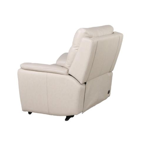 Duval Dual-Power Leather Recliner Chair, Ivory
