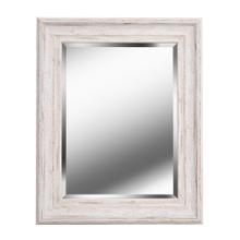 See Details - Warren - Beveled Mirror w/Distressed White Wood Finish Frame
