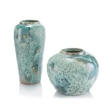 Set of Two Sea-Foam Vases