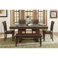 See Details - Dining Table Bench and 4 Side Chairs